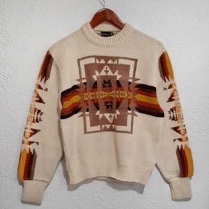 Vintage JCPenny Aztec Print Sweater S